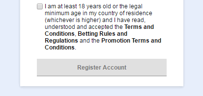 Tick to confirm you have read all the rules to register SBOTOP account